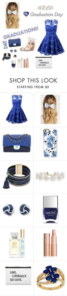 """Graduation Day!!!🎉🎈💘"" by hugahuga ❤ liked on Polyvore featuring Forever 21, Chanel, Casetify, Design Lab, Humble Chic, Nails Inc., Tory Burch and Lord & Taylor"