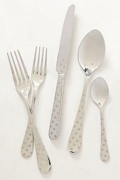 want these!!  Polka Dotted Flatware #anthropologie