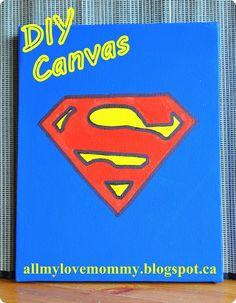 DIY Super Hero Canvas