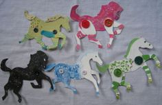 cardboard horses for Emma- template, examples