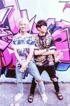 RapMonster and Jungkook