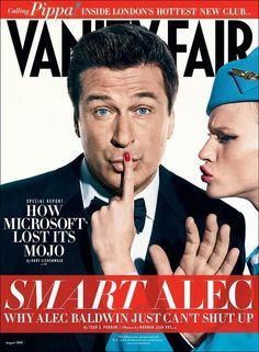 Vanity Fair August 2012 : Alec Baldwin by Norman Jean Roy Alec Baldwin, Harvey Levin, Norman Jean Roy, Vanity Fair Magazine, Graydon Carter, Brad Pitt And Angelina Jolie, Kim Basinger, Rachel Weisz, Glamour