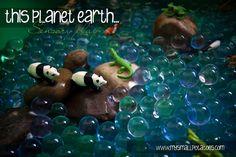 planet earth sensory bin