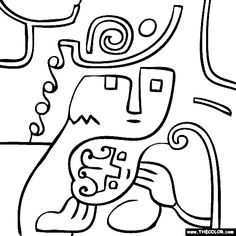 paul klee coloring pages - Cerca amb Google