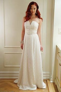 Retro lace wedding dress from Fancy, Spring 2013