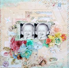 Erin Blegen: My Scrap Cabin: DT work for Prima Marketing, for the July BAP sketch; featuring the *NEW* Delight collection!