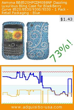 Asmyna BB8520HPCDM086NP Dazzling Luxurious Bling Case for BlackBerry Curve 8520/8530/9300/9330 - 1 Pack - Retail Packaging - Blue (Wireless Phone Accessory). Drop 73%! Current price $1.43, the previous price was $5.39. https://www.adquisitio-usa.com/asmyna/bb8520hpcdm086np-dazzling