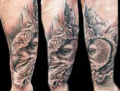 #tattoo #tattoos #tattooartist #owl #owltattoo #animaltattoo #animalportrait