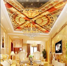 35.00$  Know more - http://aiq26.worlditems.win/all/product.php?id=32801483300 - 3d customized wallpaper Living room bedroom European architecture ceiling ceiling murals living 3d wallpaper