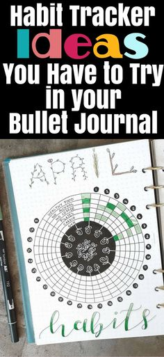 Bullet Journal Ideas- Tons of ideas to set up a habit tracker in your bullet journal! Get lots of bullet journal inspiration, including perfect layouts, ideas to track, how to organize your information, tips on making set up easier, and other valuable bujo information!