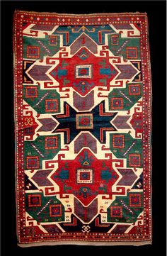 The Erikson Type B Star Kazak Rug This is a splendid example of a Type B Star Kazak and very possibly the Nickle Museum