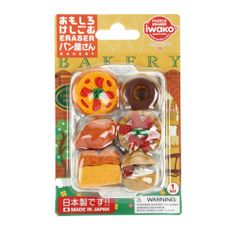 """IWAKO """"Bakery"""" eraser set"""