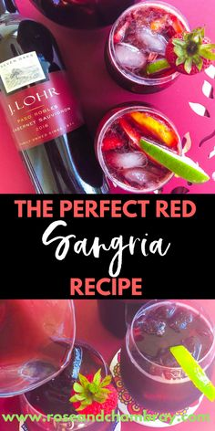 The Perfect Red Sangria Recipe (Made with Orange Soda!) This red sangria recipe features J. Lohr Cabernet Sauvignon, orange soda and a whole lot of love. It's easy to make, has been deemed Sangria Mix, Moscato Sangria, White Wine Sangria, Summer Sangria, Peach Sangria, Summer Cocktails, Best Sangria Recipe Ever, Red Sangria Recipes, Margarita Recipes