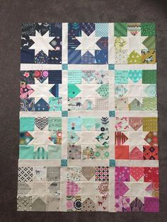 Vanessa Wilson's Cotton & Steel charm swap quilt for Ms Midge Aussie Charm Along (http://www.msmidge.com.au/the-cotton-steel-charm-along/)
