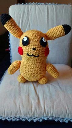 Pikachu amigurumi con patrón libre