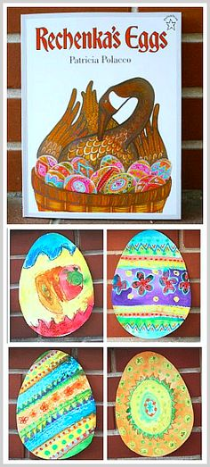 Easter egg craft for kids inspired by the picture book, Rechenka's Eggs! ~ BuggyandBuddy.com