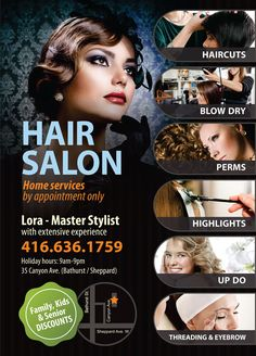Hair Salon Flyer Offering Discounts   Pinteres