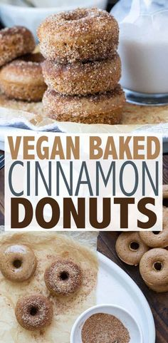 recipes healthy Drool-Worthy Cinnamon Donuts These incredible cinnamon sugar vegan donuts are easy to make and baked to perfection. Both the regular and gluten-free donuts have an unbelievable texture! Vegan Dessert Recipes, Donut Recipes, Vegan Sweets, Easy Desserts, Sugar Free Vegan Desserts, Tapas, Cinnamon Sugar Donuts, Sans Gluten, Savoury Cake
