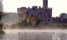 Castle at dawn, Castle Island - Crossna, Roscommon Ireland - someday I will get there Oh The Places You'll Go, Places To Travel, Places To Visit, Palaces, Beautiful Castles, Beautiful Places, Roscommon Ireland, Photo Chateau, Famous Castles