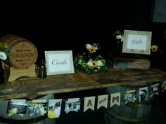 Beer barrel theme gift and card table.