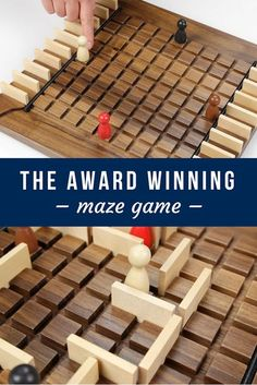 The Award Winning MAZE Game! Looking for a cool maze game that can involve the whole family? Checkout THE MAZE GAME! This is a game where you must get your piece to the opposite side of the Wooden Board Games, Wood Games, Diy Board Game, Board Game Design, Game Boards, Maze Game, Bois Diy, Cnc Projects, Diy Games