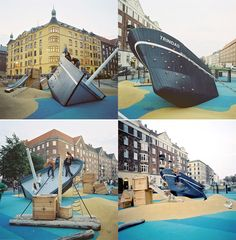 The Trinidad, Copenhagen. Designed by Monstrum. This is a playground; I am so jealous of the kids right now. Via 15 Amazing Playgrounds From All Over The World by flavorwire.com