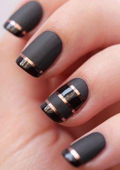 10 Cute and Stunning Black Nail Arts P-4
