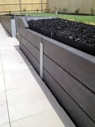 Image Result For Charcoal Sleepers Retaining Wall Sleeper Retaining Wall Retaining Wall Hardscape