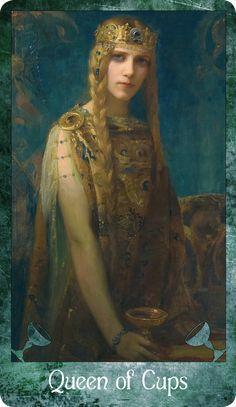 The Symbolist Tarot - Queen of Cups