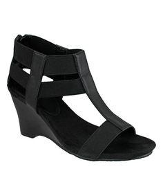 Look at this #zulilyfind! Black Alice Wedge Sandal #zulilyfinds