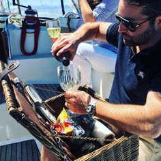 Perfect weather for a sailing charter and the most legit picnic basket I have ever seen. Sailing Charters, Reasons To Live, San Francisco Bay, Golden Gate Bridge, Picnic, Basket, Weather, Instagram Posts, Photography