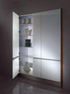 crockery and kitchen larder unit