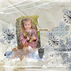 clin d'oeil design Dawn Inskip KnickKnacks scrap digital vintage watercolor