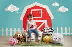 Aylah Turns 2 ~ A Farm Themed Birthday Farm Themed Party, Barnyard Party, Farm Party, Second Birthday Ideas, Farm Birthday, 3rd Birthday Parties, Farm Animal Party, Farm Animal Birthday, Tissue Poms