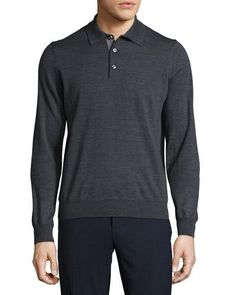 Andorra Relaxed Polo Shirt, Charcoal