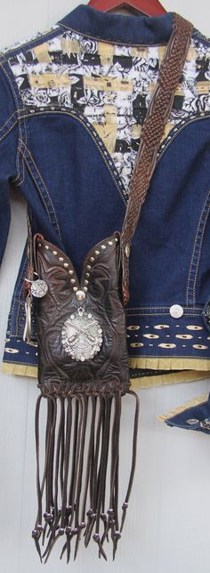 Beautiful deep brown leather Western Boot Purse by GriffinsCloset, $180.00