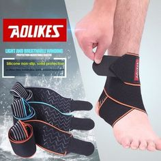 Only US$7.49, buy best Sport Protector Ankle Brace Protertor Silicon Anti-slip Breathable Foot Pad  sale online store at wholesale price.US/EU warehouse.