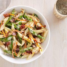 Primavera with Prosciutto, Asparagus, and Carrots -
