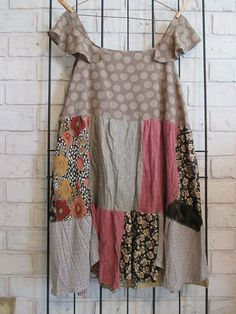 Women's upcycled repurposed eco friendly dress/tunic