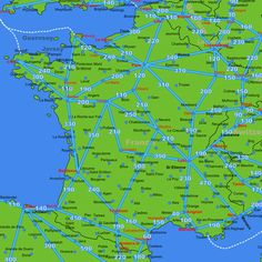 Rail Map Of France Etc Travel Pinterest Switzerland France - France driving distances map