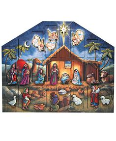 Byers' Choice Nativity Scene Advent Calendar