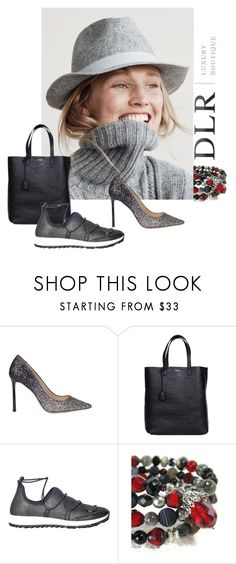 """DLRboutique.com"" by jillsjoyagol ❤ liked on Polyvore featuring J.Crew, Jimmy Choo and Yves Saint Laurent"