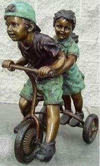 I love so many of these bronze sculptures of children playing.  This reminds me of my childhood.  Maybe one day I will find it in my garden!