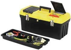 """Stanley - 19"""""""""""""""" Tool Box with Removable Tray"""