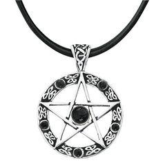 Ø: 3 cm Sølvbelagt og med sort onyx. Hvid magis stærkeste…