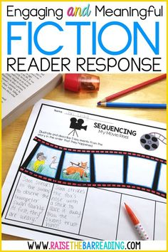 Engaging and Meaningful Fiction Reader Response for Elementary Students - Raise the Bar Reading Reading Response Activities, Reading Comprehension Strategies, Reading Intervention, Reading Skills, Teaching Reading, Guided Reading, Teaching Ideas, Teaching Resources, Common Core Reading