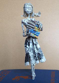 Libro escultura, papel de Nancy Drew, amante del libro, libro arte, escultura de papel, Hardy Boys, pastel de boda toppper, 1er aniversario, aniversario