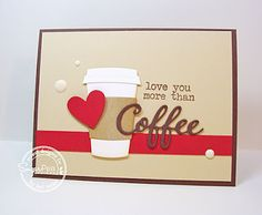 Card by Lori Tecler for SugarPea Designs.  Stamps: Caffeine Addict.  SugarCut Dies: Coffee Words and Coffee To Go Cup.