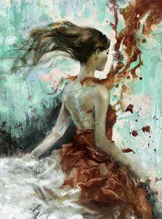 Painting by Parya Madjzoub, ambitiousparya blog