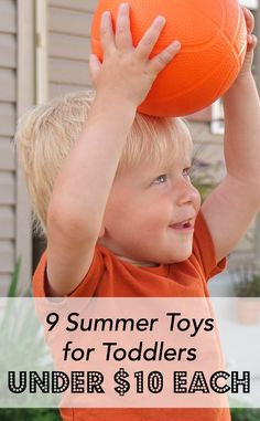 We've stopped wasting money on toys our kids won't even like! Instead, we use these 9 summer toys for toddlers that are each less than 10 bucks. Great way to save money on toys!